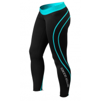 Лосины Better Bodies Athlete Tights, Black/Aqua